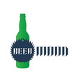 Beer mood - t-shirt print or label with green vector