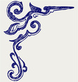 Calligraphic design element and page decoration vector