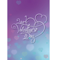 Valentines card 2014 valentines day purple blue vector