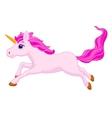 Cute unicorn cartoon running vector