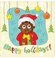 Create a vintage-style christmas card vector