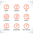 Smiles icons vector