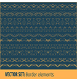 Set of border elements and page decoration vector