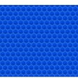 Blue pattern hexagon mosaic vector