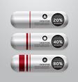 Banner metal capsule modern design vector