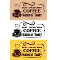 Best collection coffee labels vector