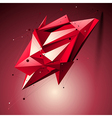 Ruby spatial technological shape polygonal vector
