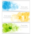 Abstract tech colorful banners vector