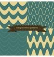 Simple retro wavy seamless patterns vector