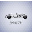Retro cabriolet sport car vintage outline style vector