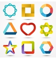 Abstract creative signs and symbols set logo vector