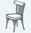 Wooden chair vector