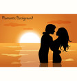 Couple in love at sunset vector