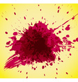 Abstract red splash on yellow background vector