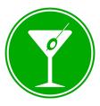 Martini glass button vector