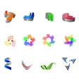 12 colorful symbols set 8 vector