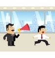 Boss and employee scene vector