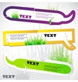 Colorful stickers for speech green grass natural b vector