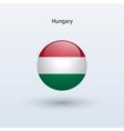 Hungary round flag vector