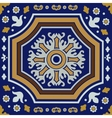 Ceramic tile ornament vector