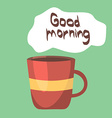 Cup of coffee good morning concept background vector