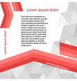 Page template gray triangle red line layout vector