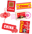 China country label vector
