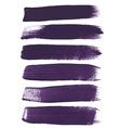Violet ink brush strokes vector