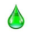 Green drop vector