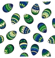 Seamless easter pattern with colorful eggs vector