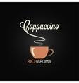Cappuccino cup menu design background vector