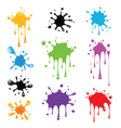 Set of paint splash vector