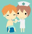Nurse and patient vector