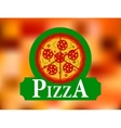 Italian pizza restaurant label vector