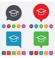 Graduation cap sign icon education symbol vector
