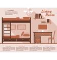 Living room interior decor infographic vector
