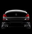 Black customized super car vector