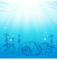 Abstract sea life vector
