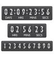 Countdown timer emblem vector