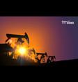 Oil field vector