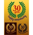 30 years happy anniversary wreath vector