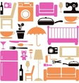 House furniture set vector
