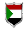 Sudan flag button vector