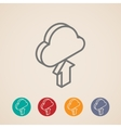 Cloud with upload arrow isometric icons vector