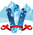 Snowboards background vector