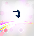 Abstract background with jumping silhouettes eps10 vector
