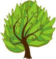 Cartoon tree isolated vector