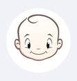 Cartoon baby face vector