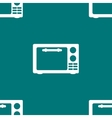 Microwave kitchen equipment web icon flat design vector
