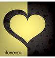 Cut out heart card in format vector